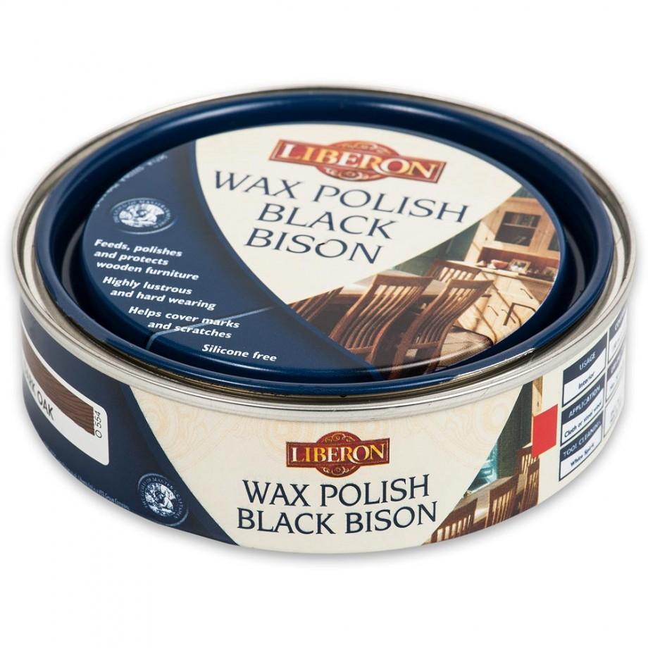 Liberon Black Bison Paste Wax - Dark Oak 150ml