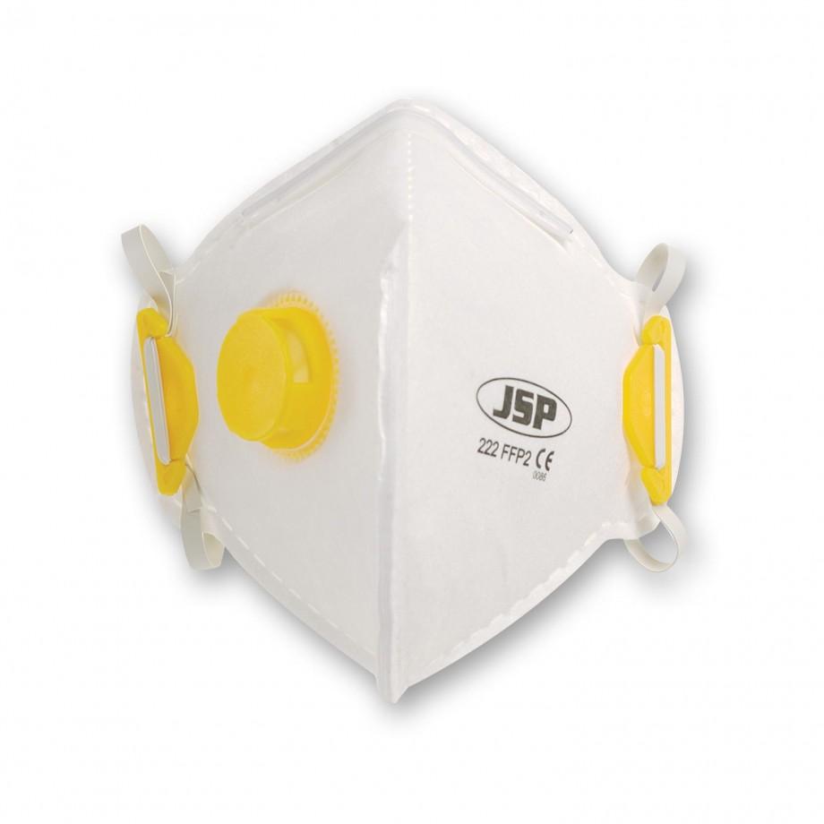 JSP Vertical Fold Flat Respirator Valved FFP2 (Pkt 10)