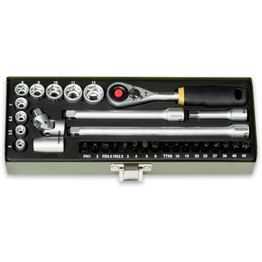 Proxxon 32 Piece Precision Engineer's Socket & Screwdriver Set