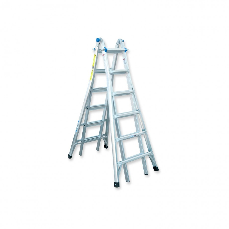 Werner 7.01m Telescopic Combi Ladder MT26 (4 x 6)
