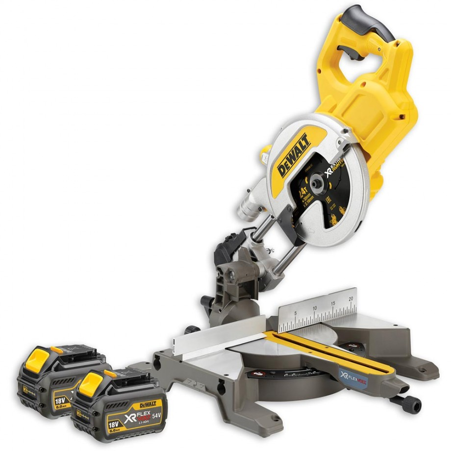 DeWALT DCS777T2 XR FLEXVOLT Mitre Saw 2 x 54V Batteries