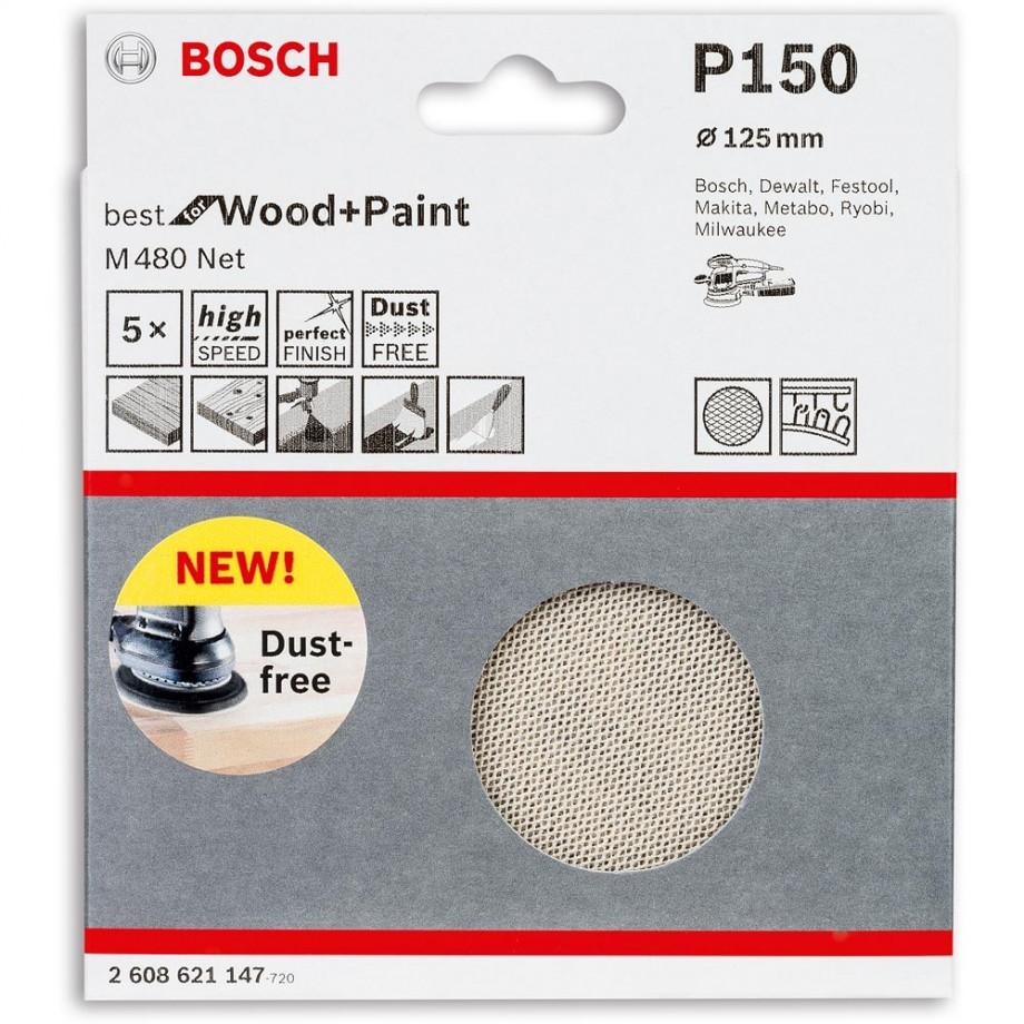 Bosch Net M480 Abrasive 125mm x 150G Pkt 5