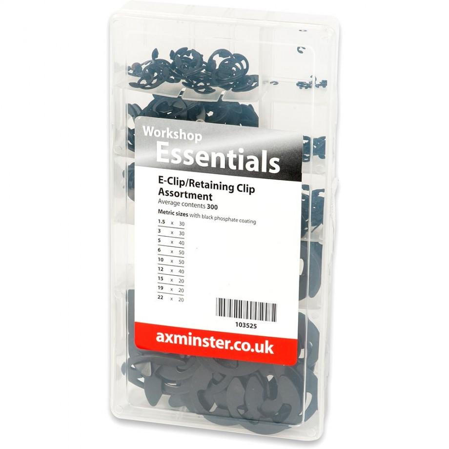 Axminster E-Clip Retaining Clip Assortment