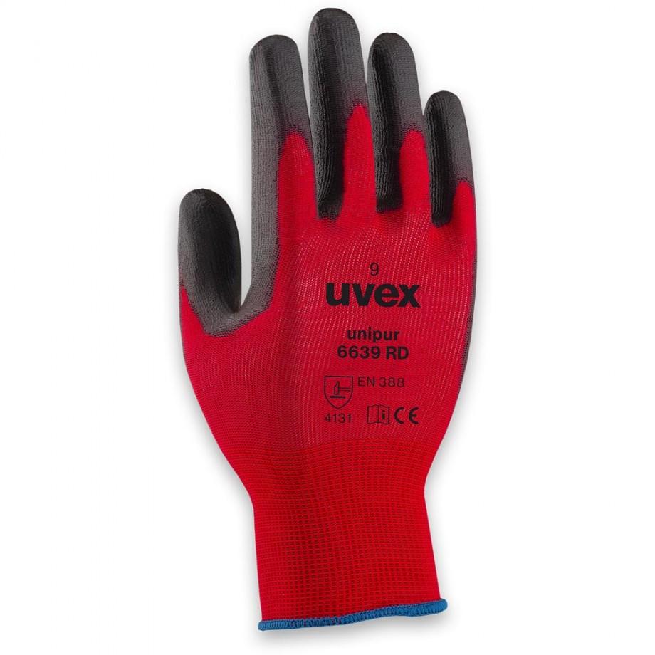 uvex Unipur 6639 PU RD Gloves Size 10