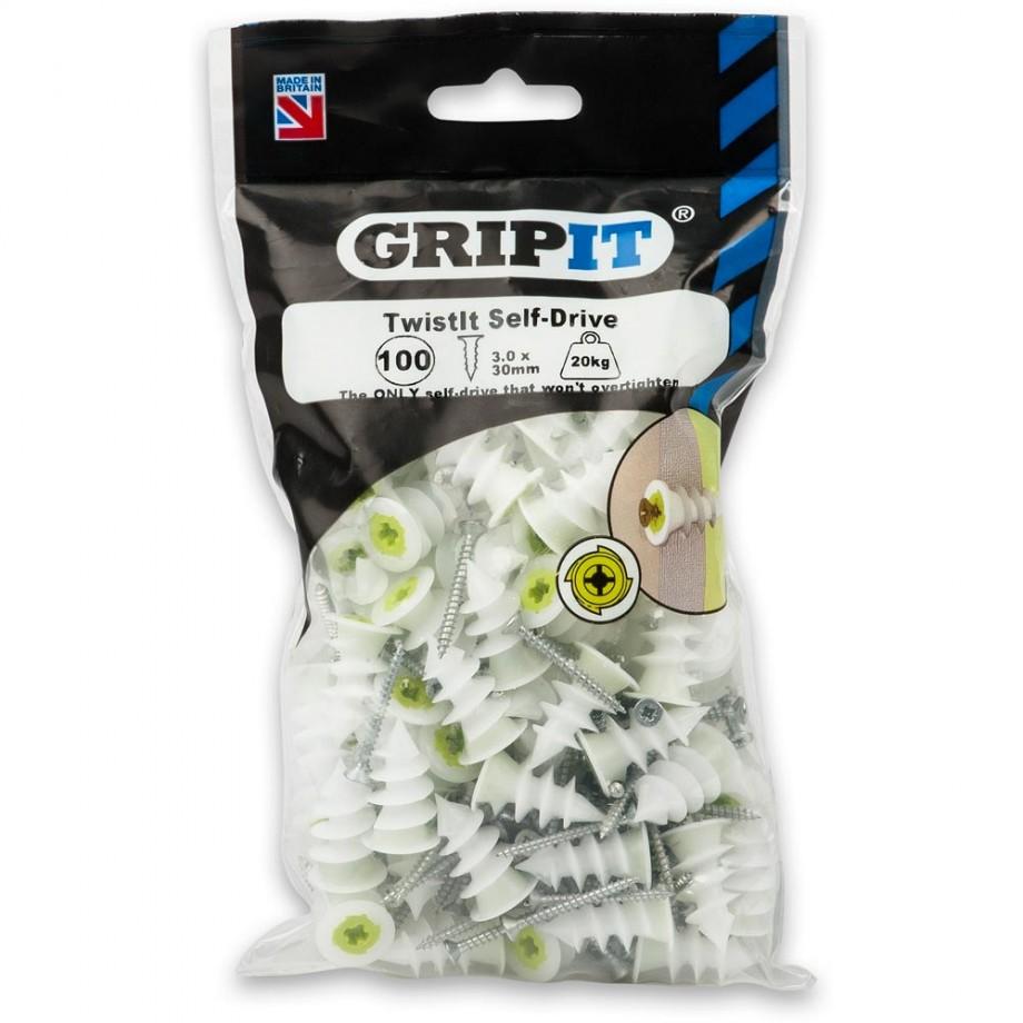 GripIt TwistIt Self-Drive Plasterboard Fixings (Pkt 100)