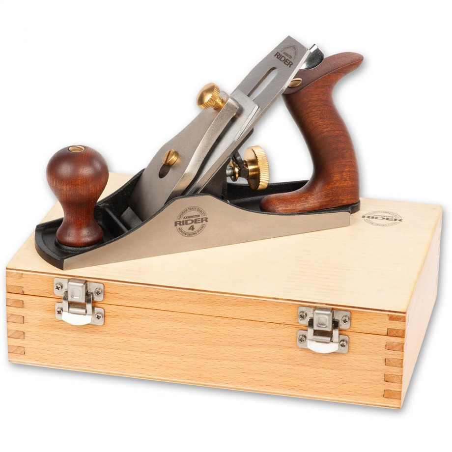 Axminster Rider Special Edition No. 4 Smoothing Plane In Wooden Box
