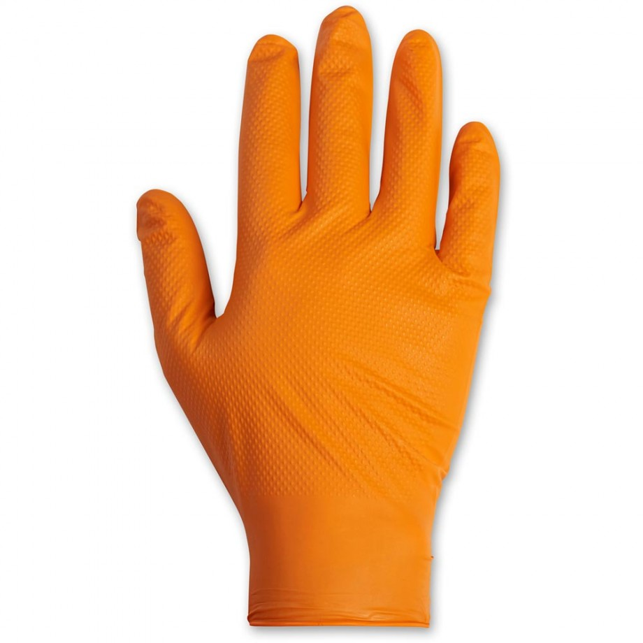 Latex Free Diamond Grip Disposable Gloves