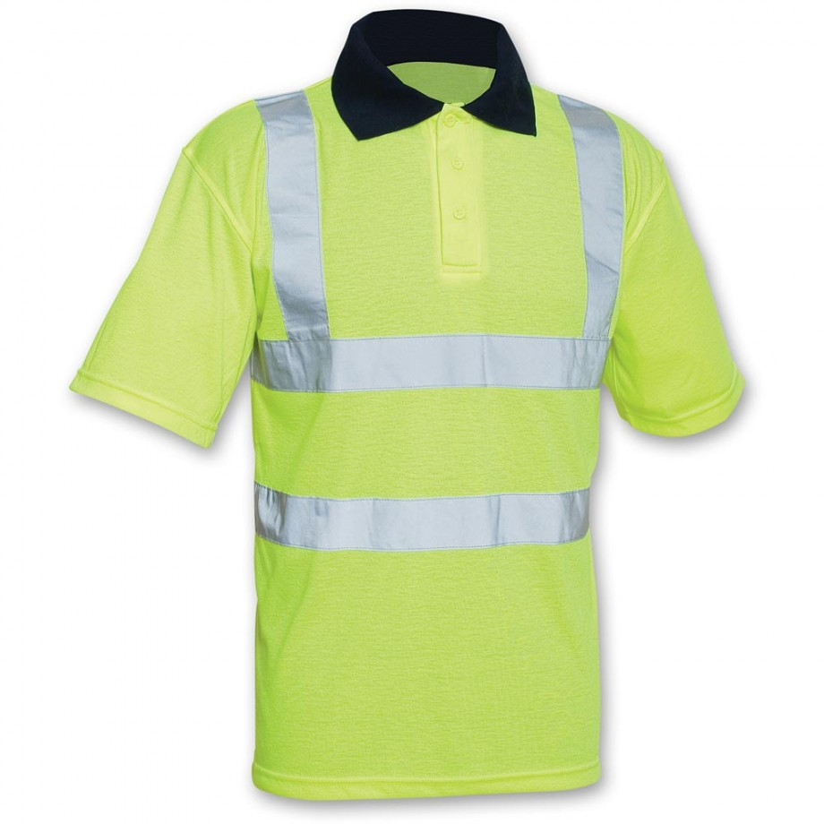 Scan Hi-Vis Yellow Polo Shirt - L