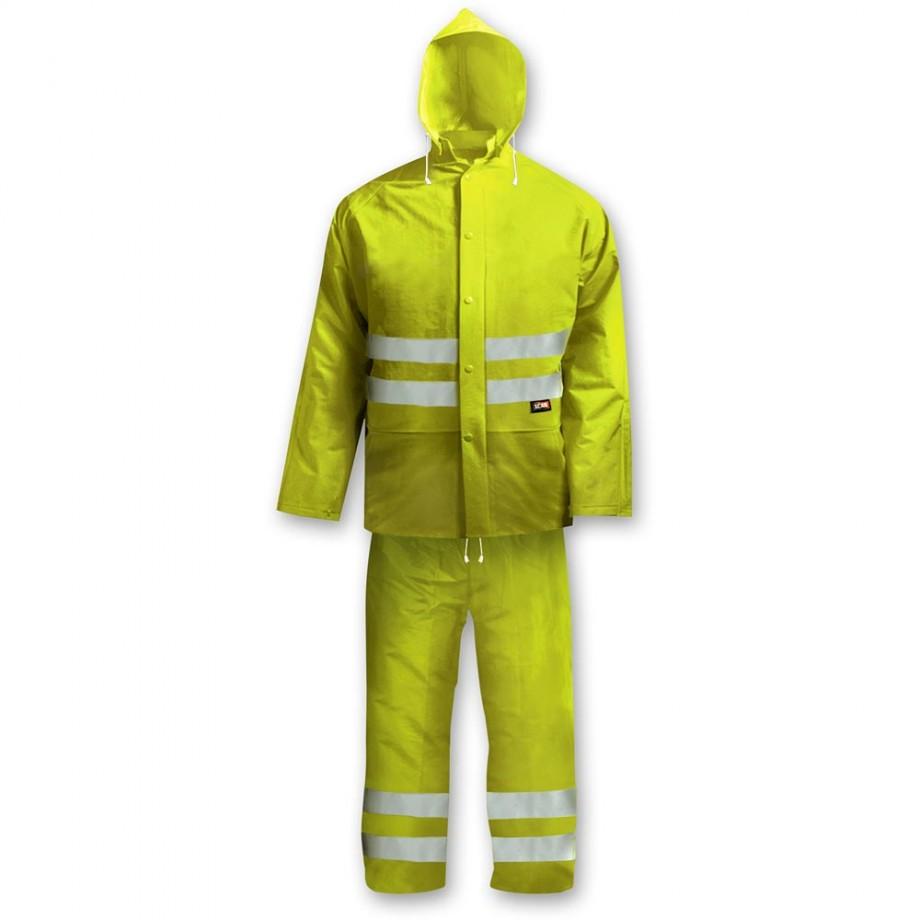 Scan Hi Vis Rain Suit Yellow