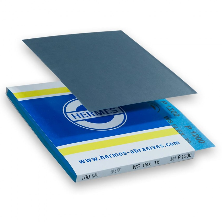 Hermes Wet & Dry Silicon Carbide 230 x 280mm x 800 Grit (Pkt 10)