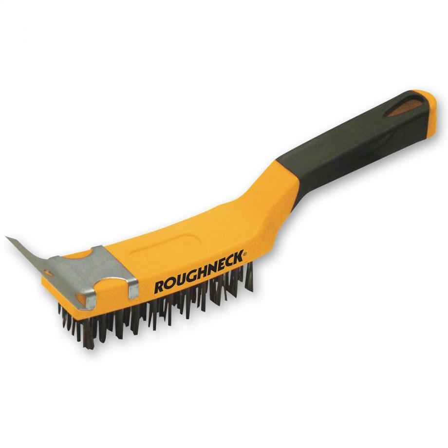 Roughneck Carbon Steel Wire Brush Soft Grip