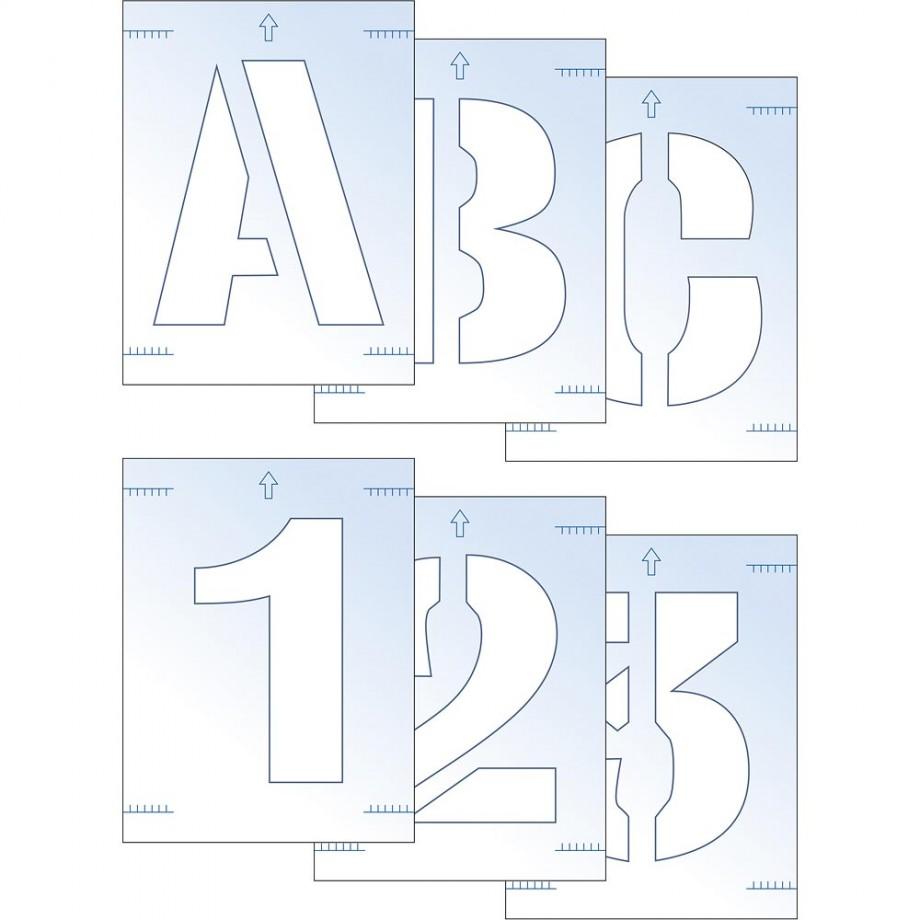 Scan Letter & Number Stencil Kit