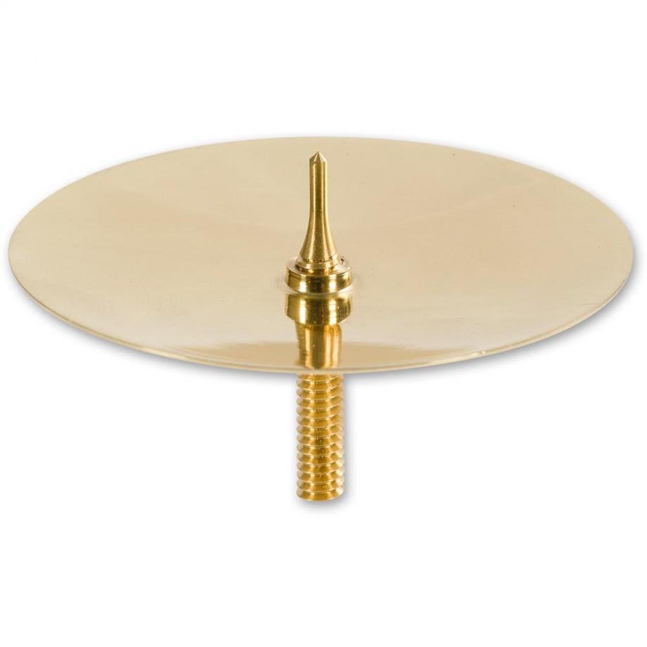 Craftprokits Brass Pillar Candle Dish with 10mm Spike