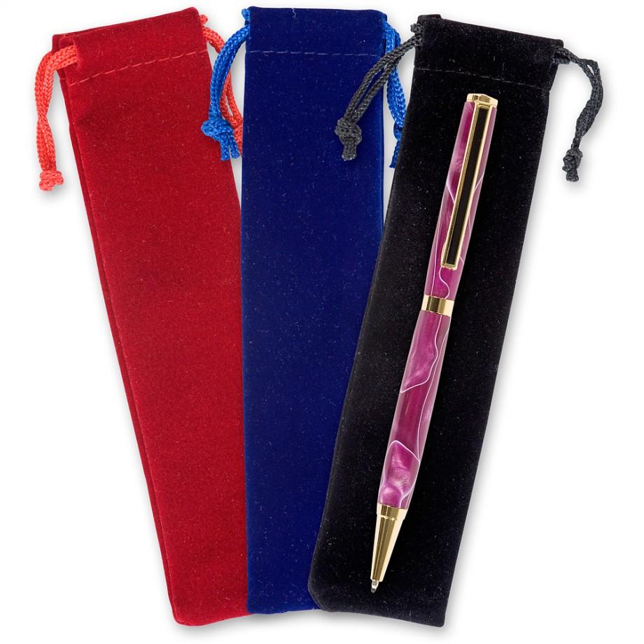 Velvet Drawstring Pen Cases (Pkt 3)