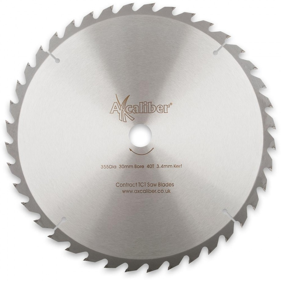 Axcaliber Contract TCT Saw Blade Rip - 355 x 3.4 x 30mm T40