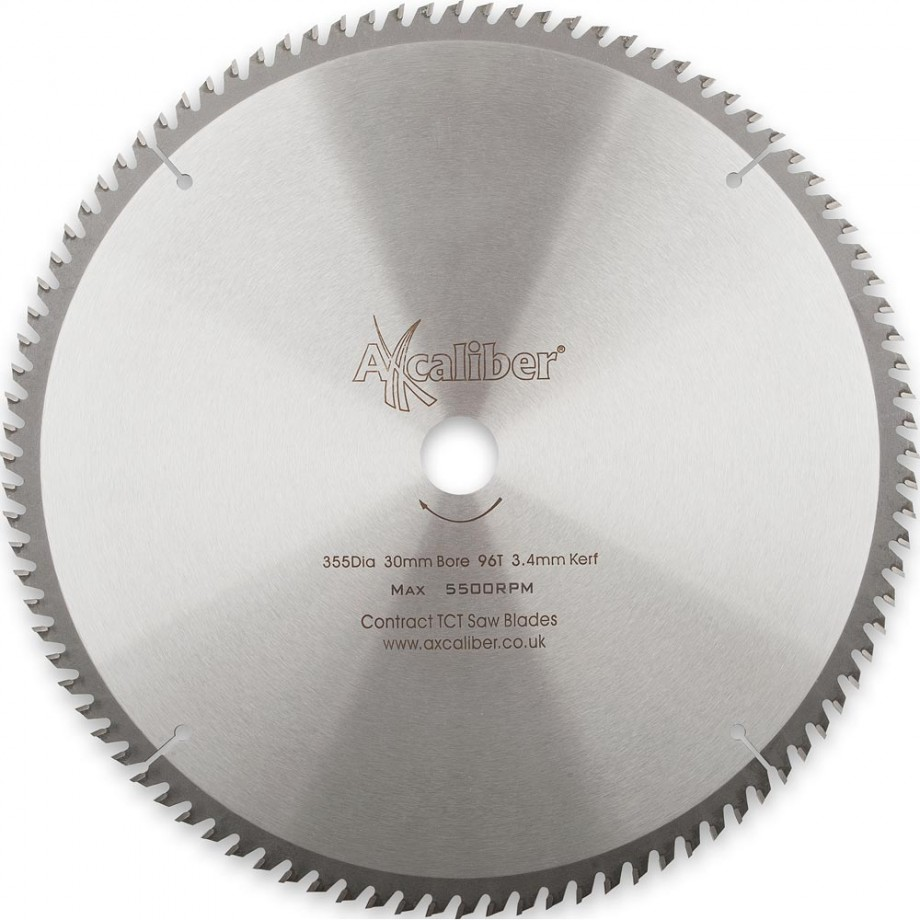 Axcaliber Contract TCT Saw Blade Crosscut - 355 x 3.4 x 30mm T96