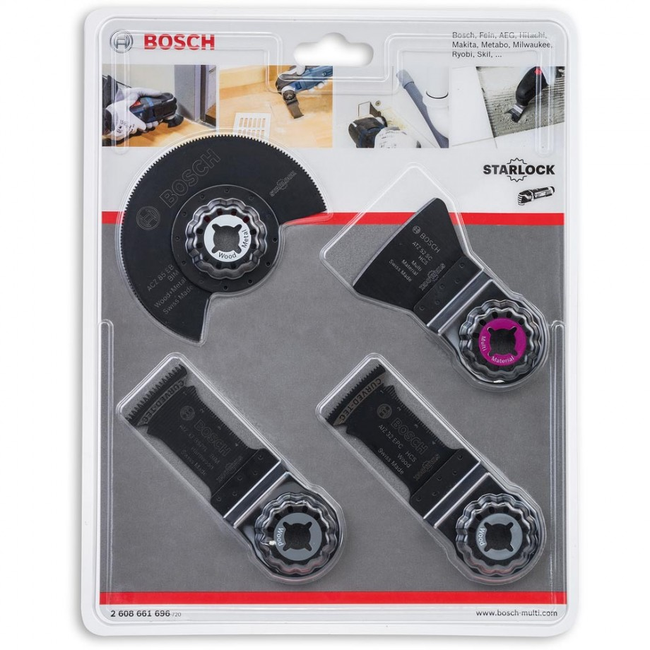 Bosch Flooring and Fitting Multi Tool Accessory Set (Starlock)