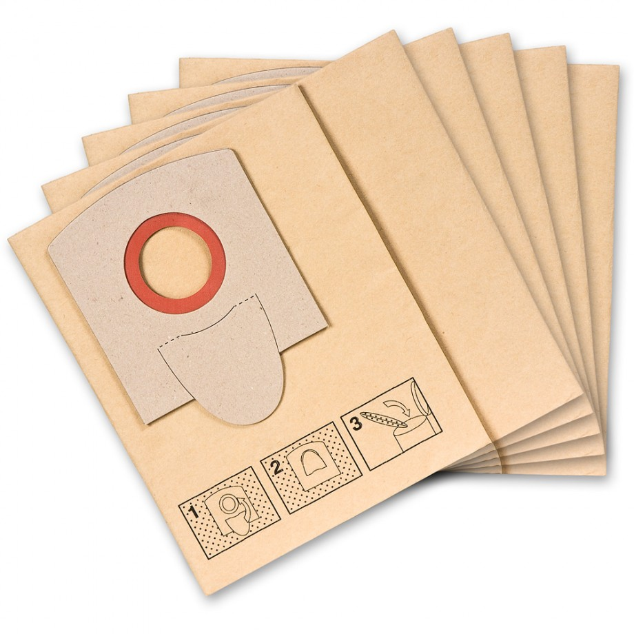 FEIN Dustex 25 Paper Filter Bags (Pkt 5)