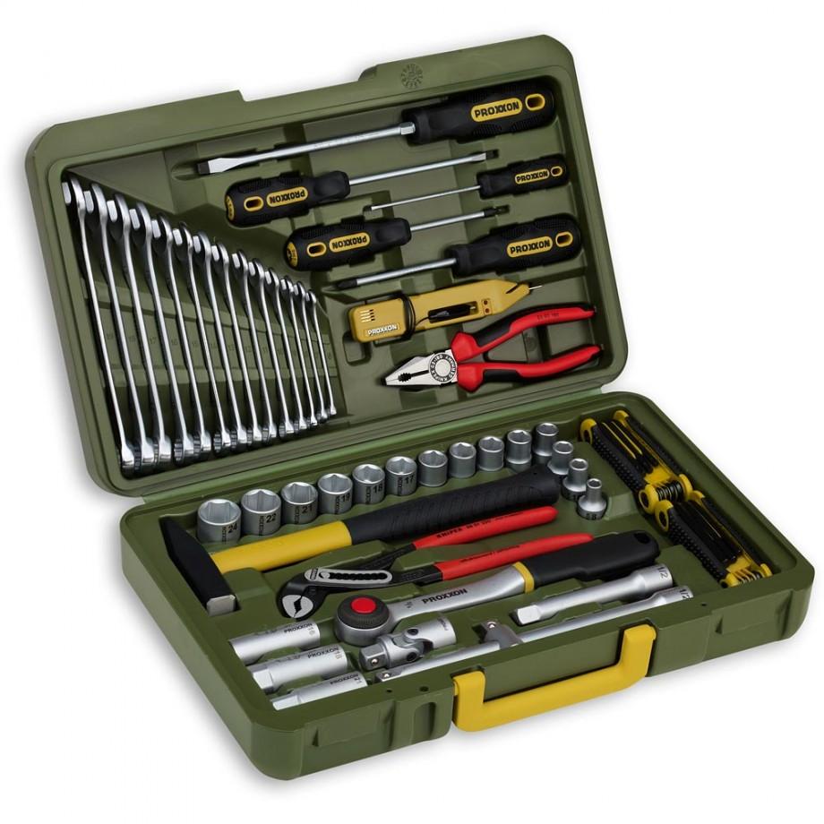 "Proxxon 47 Piece Automotive Tools and Socket Set (1/2"")"