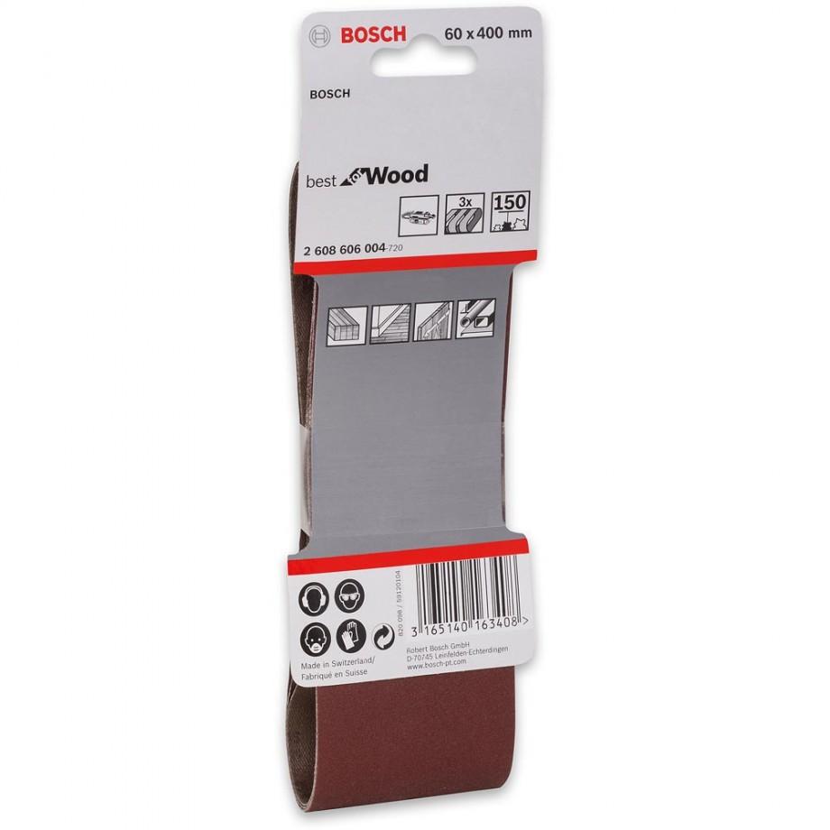 Bosch Cloth Sanding Belt 60 x 400mm x 150 Grit (Pkt 3)