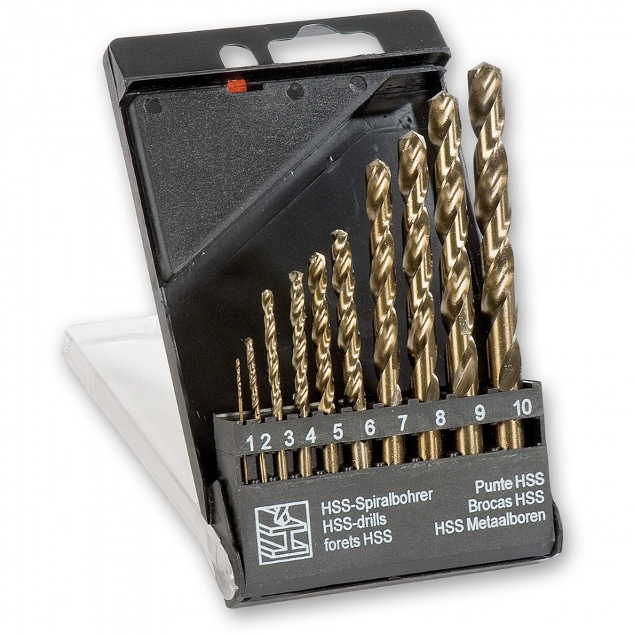 Cobalt Drill Bit Set >> 10 Piece Cobalt Hss Drill Bit Set Drill Bit Sets Drilling