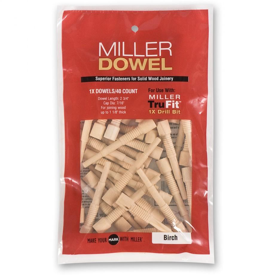 Miller Standard Dowels 1X - Oak (Pkt 100)