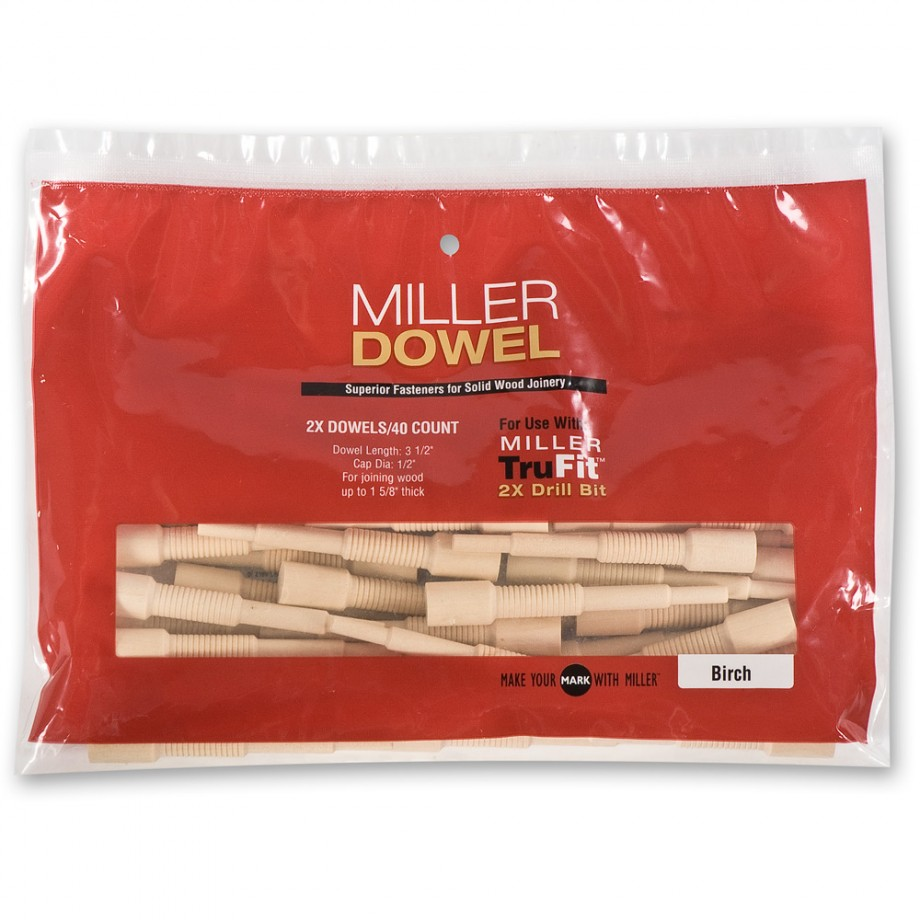 Miller Large Dowels 2X - Oak (Pkt 40)