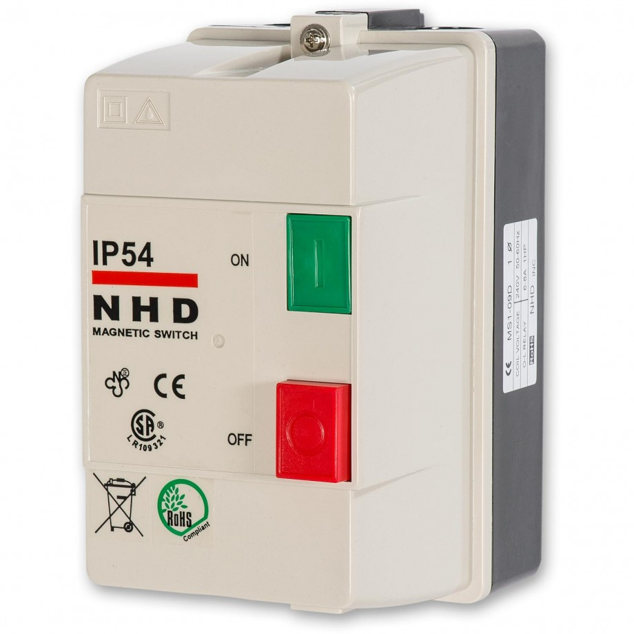 Axminster NVR Switch 1.5kW 230V 1ph
