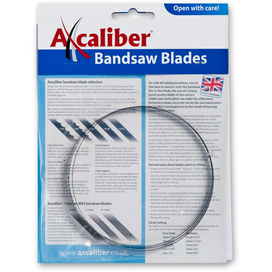 "Bandsaw Blade 2,845mm(112"") x 1/4 x 4TPI"