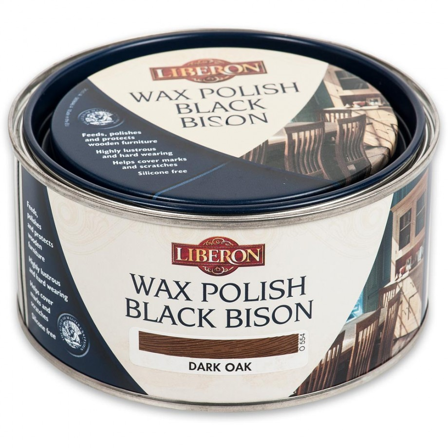 Liberon Black Bison Paste Wax - Dark Oak 500ml