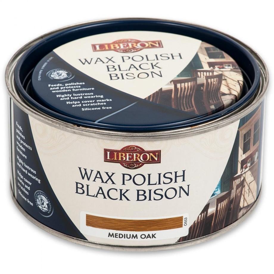 Liberon Black Bison Paste Wax - Medium Oak 500ml
