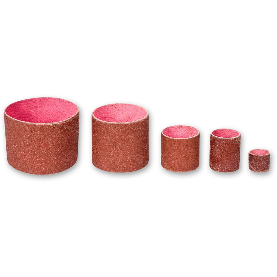 Axminster Set of Medium Sleeves for Drum Sander Kit (5)