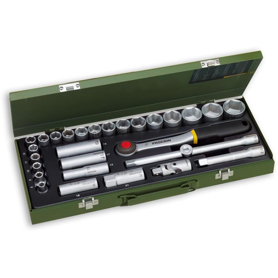 """Proxxon 29 Piece Automotive Socket Set (1/2"""")"""