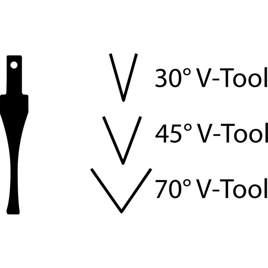 "Flexcut SK760 Chisel - 60° x 1/2""(12mm)"