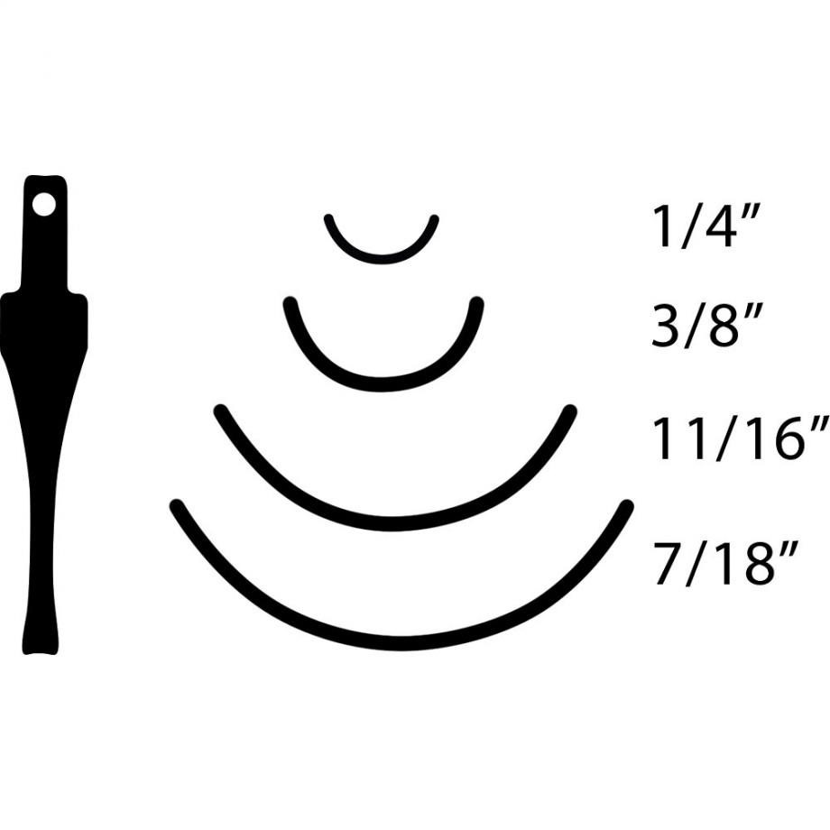 Flexcut SK Carving Gouges No.8 Sweep