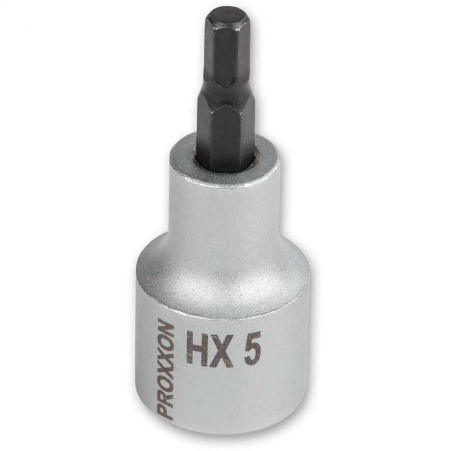"""Proxxon 1/2"""" Drive Hex Bit - 5mm x 55mm"""