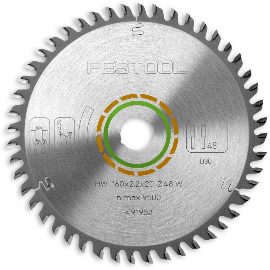 Festool 160mm TCT Saw Blade - 48T