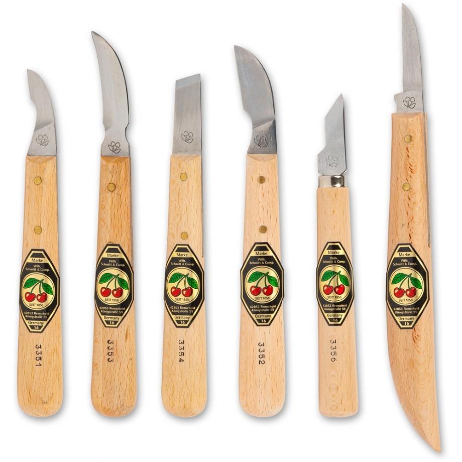 Kirschen 6 Piece Chip Carving Knife Set
