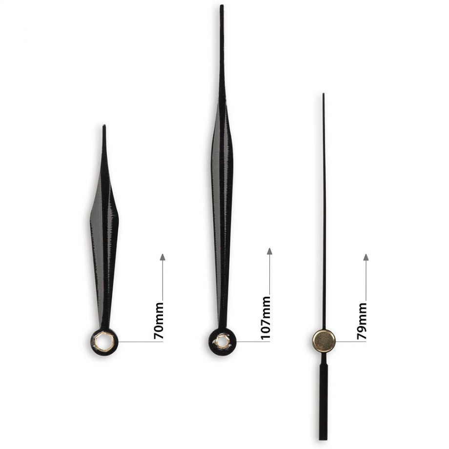 Craftprokits Clock Hands Style G - Black
