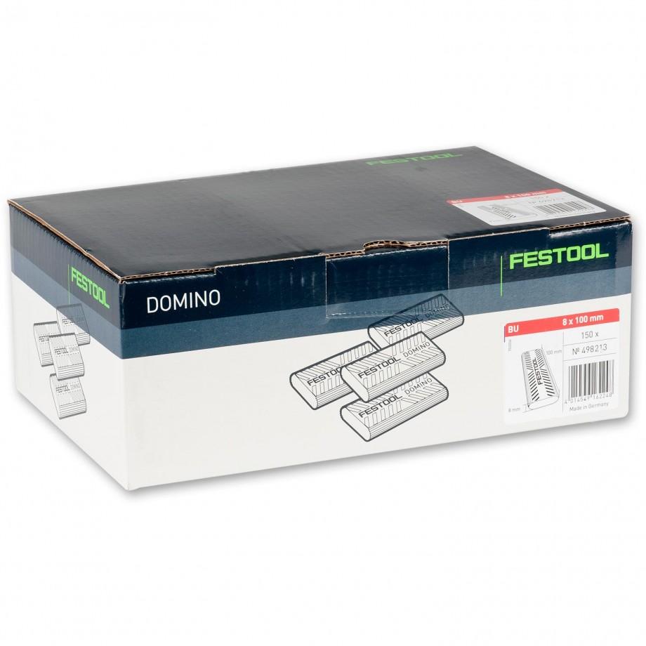 Festool XL DOMINO Dowel 8 x 100mm Pkt 150