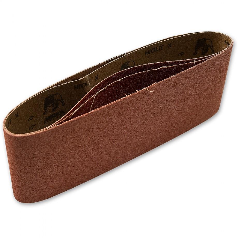 Mirka Cloth Sanding Belts 100 x 610mm x 60 Grit (Pkt3)