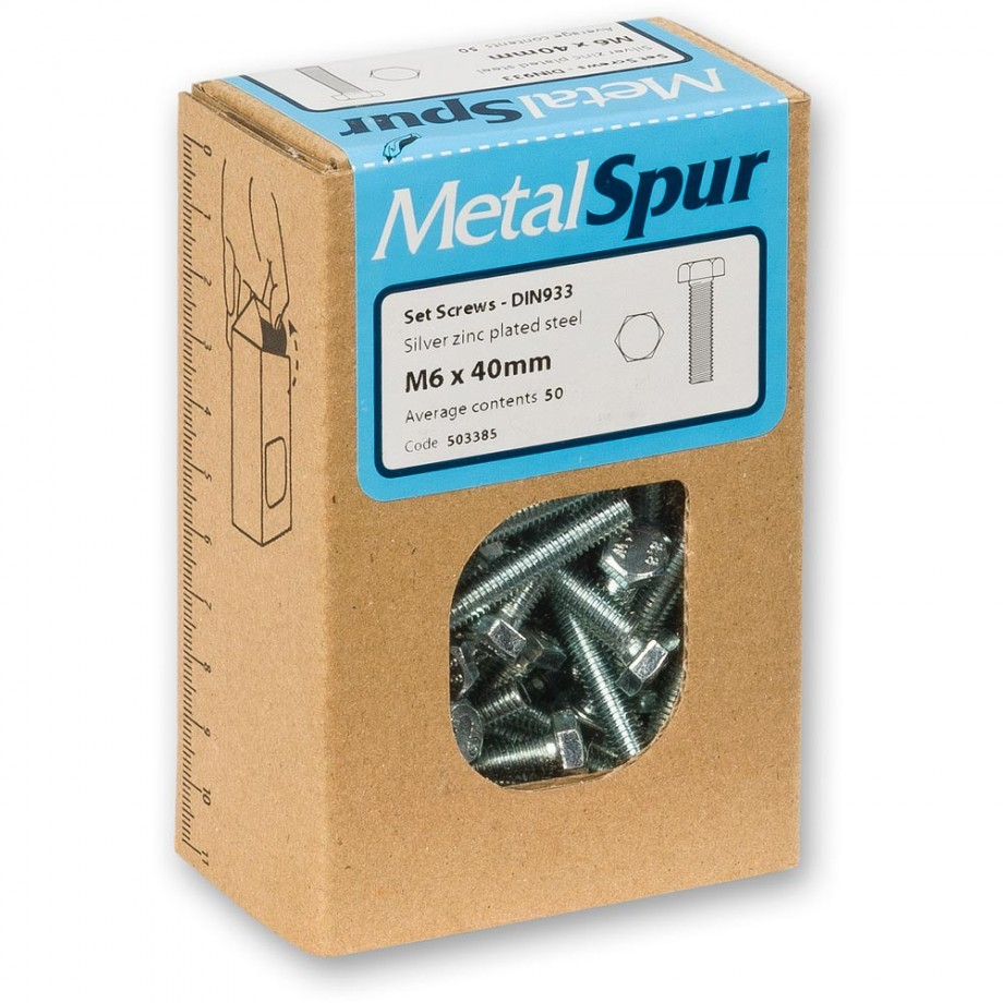 MetalSpur Set Screws, M12 x 100mm (Qty 50)