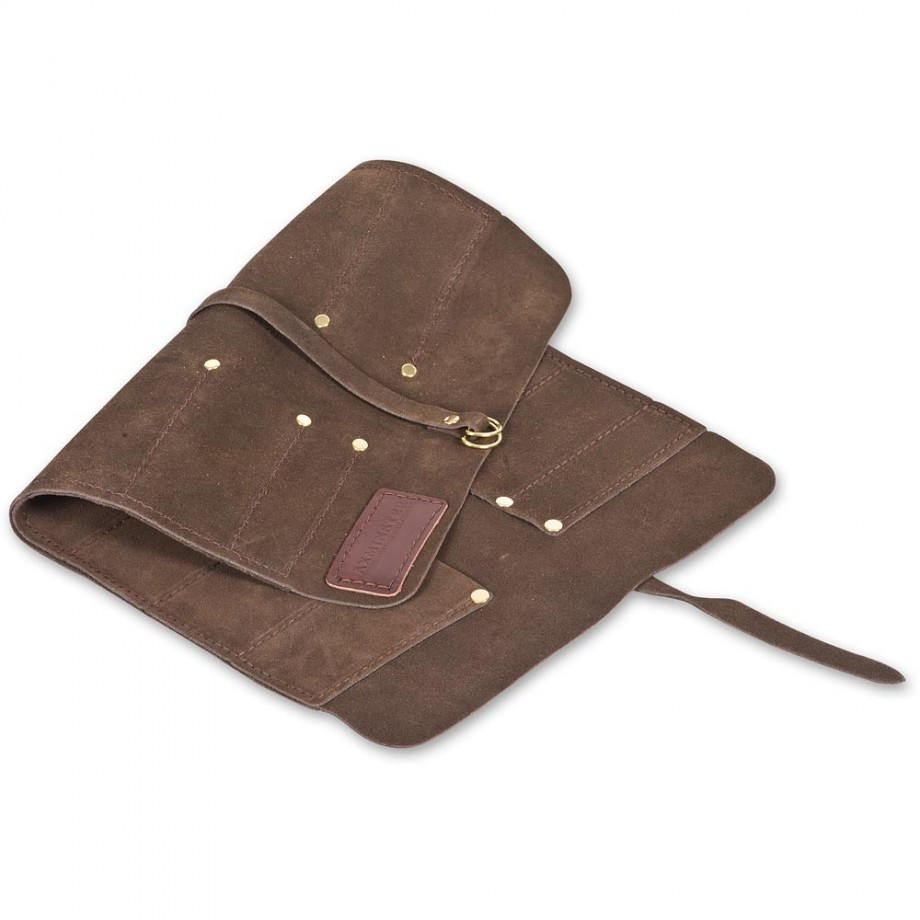 Axminster Deluxe Leather Chisel Roll 12 pocket