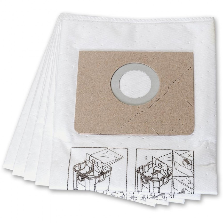 FEIN Fleece filter bags for Dustex 35L Pack 5