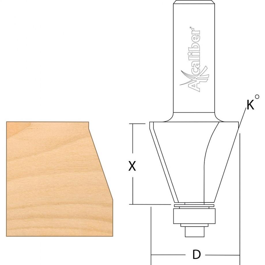"""Axcaliber Bevel Cutter 30°  1/2"""""""