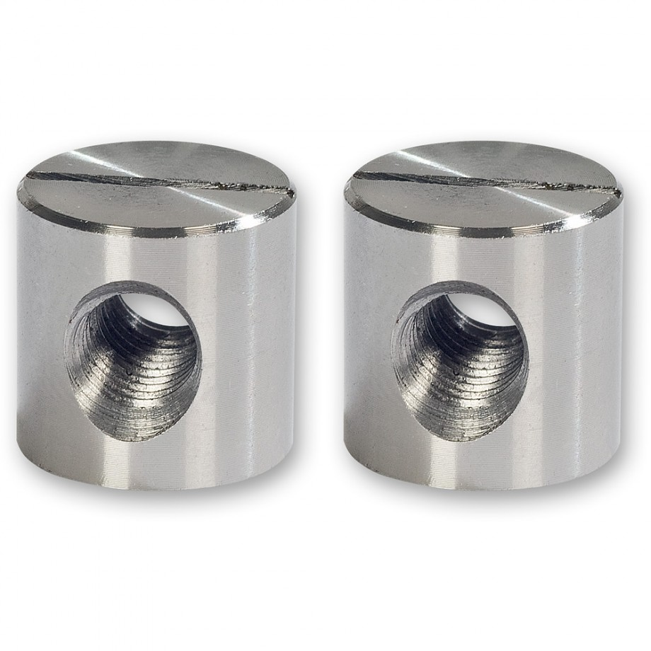 Axminster Steel Bed Bolt Nut - M10 (Pk of 2)
