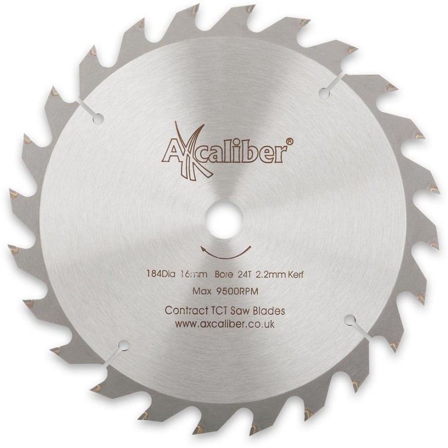 Axcaliber Contract TCT Saw Blade - 184mm x 2.2mm x 16mm T24
