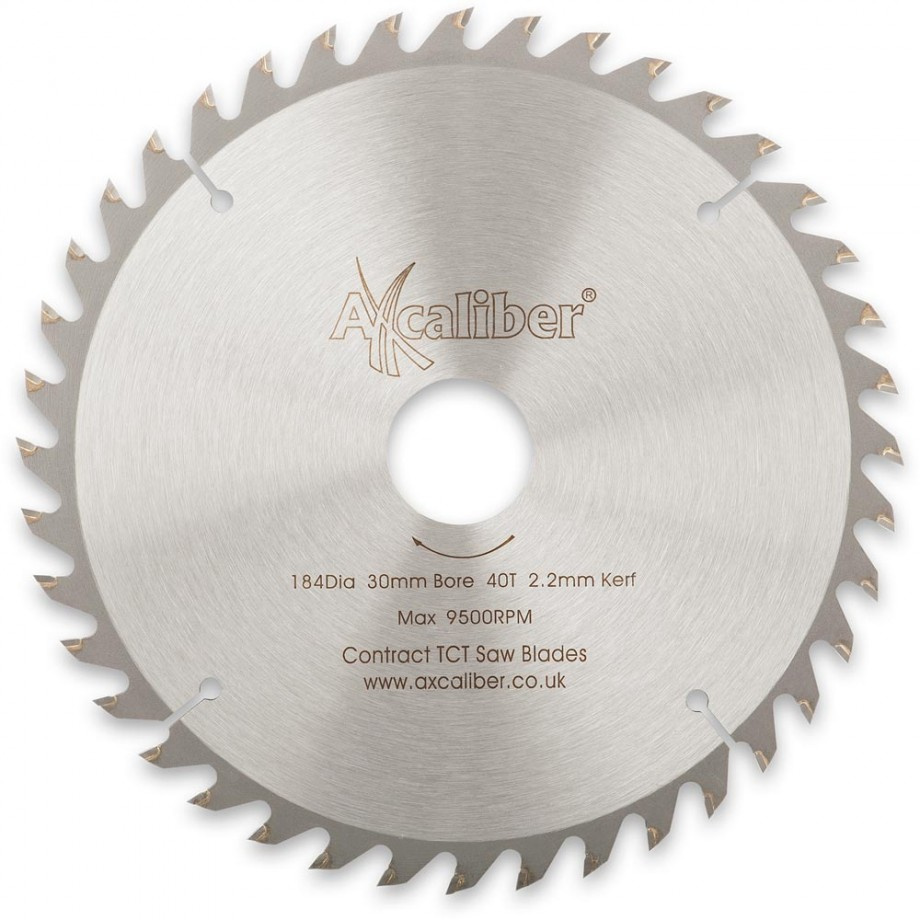 Axcaliber Contract TCT Saw Blade - 184mm x 2.2mm x 30mm T40