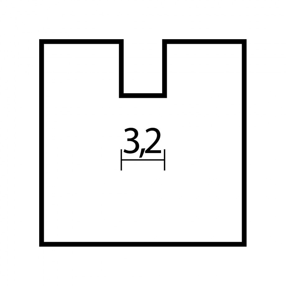 Proxxon Straight Router Bit 3.2mm dia