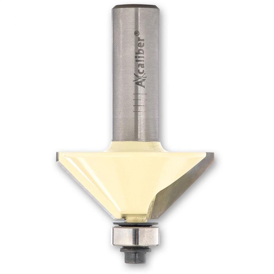 """Axcaliber Chamfer Cutter Bearing Guided - D=47.6 - X=20mm - S=1/2""""(12.7mm)"""